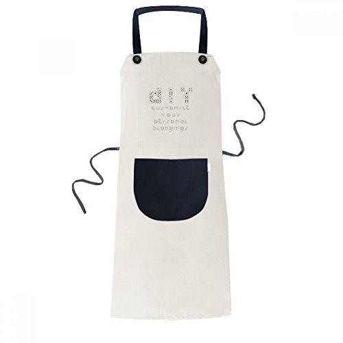 Sieve English Illustration Pattern Cooking Kitchen Beige Adjustable Bib Apron Pocket Women Men Chef Gift