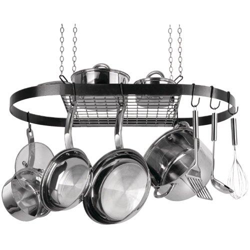RANGE KLEEN CW6000R Oval Hanging Pot Rack Black Enamel CW6000R