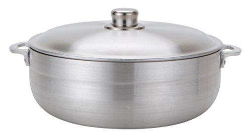 Aramco Alpine Gourmet Aluminum Caldero 35 quart Silver