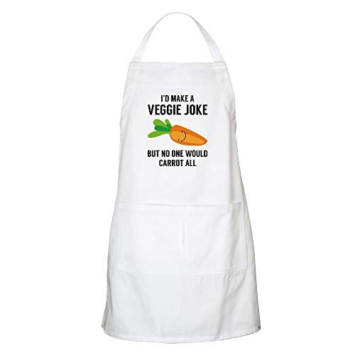 CafePress Id Make A Veggie Joke Apron Kitchen Apron with Pockets Grilling Apron Baking Apron