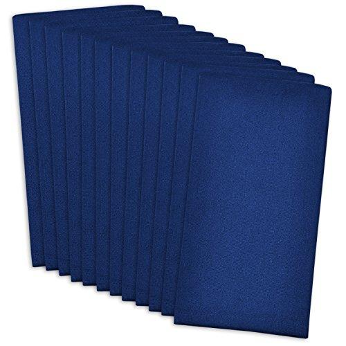 DII 100 Cotton Machine Washable Everyday Basic Buffet Napkin 16 x 16 Nautical Blue Set of 12