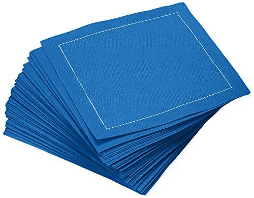 Signature Napkins 100 Cotton Cocktail Napkin 50-Pack 45 x 45 Royal Blue