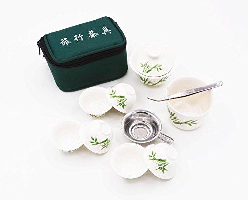 Amajiji Porcelain Hand-painted Chinese Kung Fu TeasetChinese Vintage Kung Fu Gongfu Tea Setportable Travel Tea Set 02