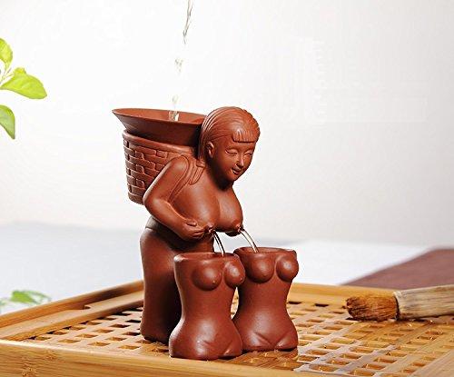 Eternal Chinese Zisha Tea Pet Tray Accessories Kung Fu Tea Set DecorativePick Tea Girl