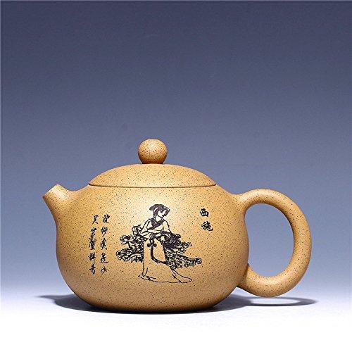 ZEETOON 390cc High-capacity Authentic Yixing Teapot Masterpiece Chinese Purple Clay Ceramic Kung Fu Tea Set All Handmade Carving Belle Xi Shi Pot