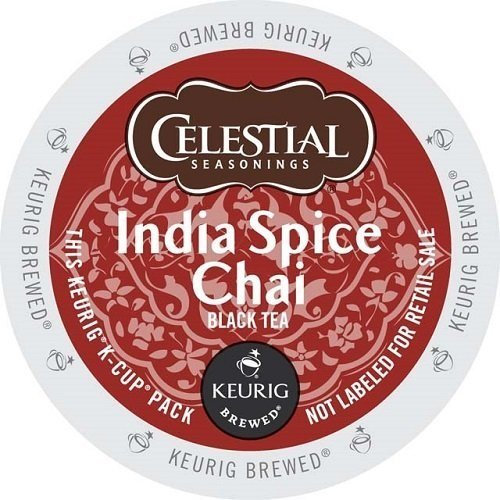 Celestial Seasonings India Spice Chai Tea Single Serve Tea K-Cups 48-Count For Brewers