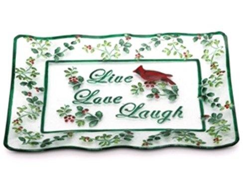 Pfaltzgraff Winterberry Live Laugh Love Platter