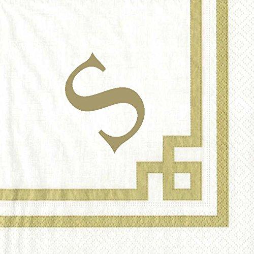 Cocktail Napkins Personalized Monogrammed Custom Paper Napkins Wedding Napkins White 100 Pc Letter S