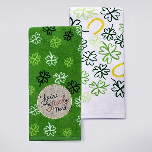 Celebrate St Patricks Day Together Youre All The Luck I Need 26 x 165 2-pack Green Kitchen Towels