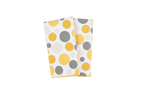 Ritz Royale Collection 100 Polyester Microfiber Multi-Purpose Polka Dot Print Kitchen Towel Set 25 x 16 2-Pack Butter Yellow
