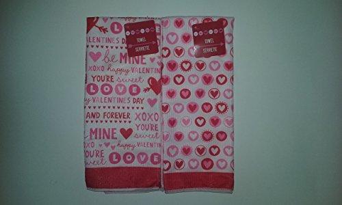Valentines Day Microfiber Kitchen Towels Bundle