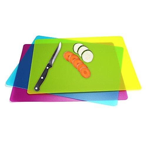 Flexible Plastic Cutting Board Mats set Colorful Kitchen Cutting Board Set of 3 Colored Mats