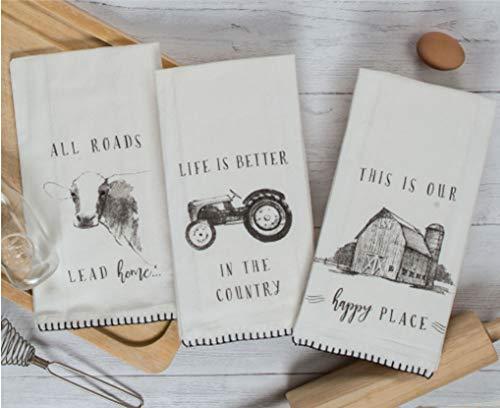 Kay Dee Designs Farmers Market Assorted Set Flour Sack Towels Set of 3
