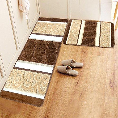 Decorative Kitchen Rugs 2 Pc Non Slip