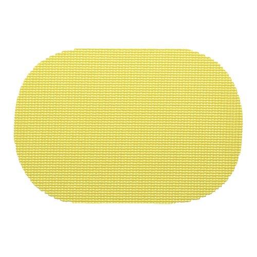 Kraftware 13936 Fishnet Placemat Dz Oval Lemon