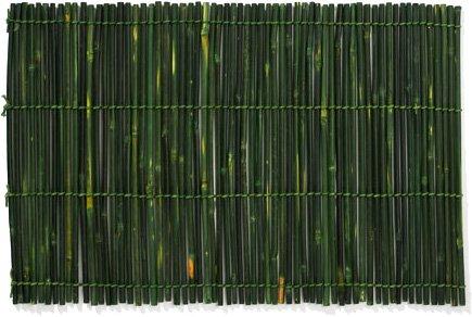 Bamboo Medium Stick Natural Placemat Green 13x9 in by Merritt International