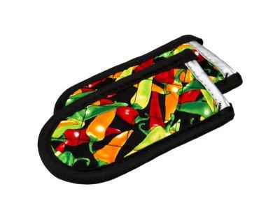 Lodge Mfg 2HHMC2 2 Pack Chili Pepper Pattern Hot Pot Handle Holder - Quantity 3