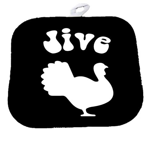 Moonlight Printing Jive Turkey Black Decorative Pot Holder