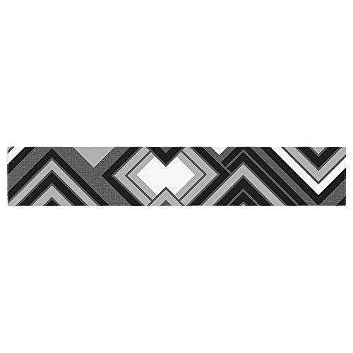 KESS InHouse Jacqueline Milton Luca - Monochrome Black White Table Runner 16 x 90