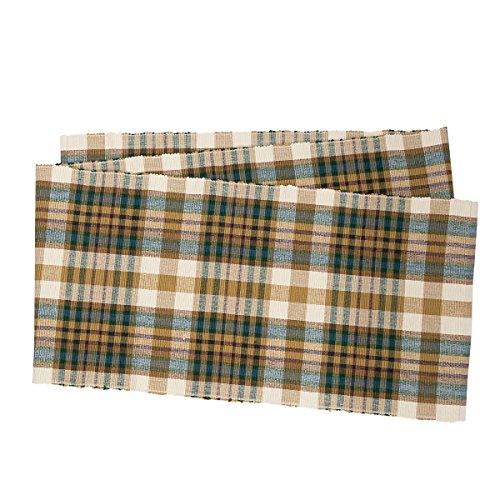Bronwyn Plaid Table Runner 13x72 inches 100 Cotton