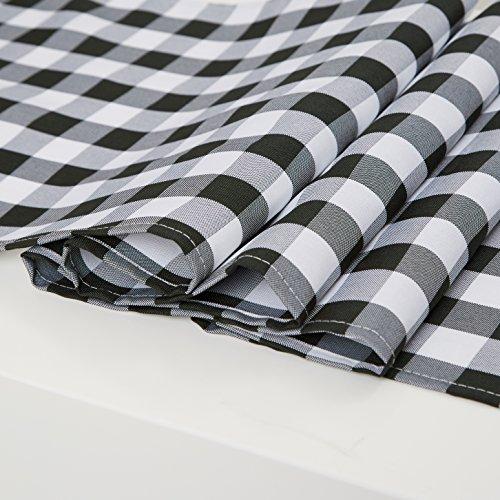 TRLYC Black and White Checkered Table Runner Tablecloth Black Plaid Table Runner Table Top--13x120-Inch