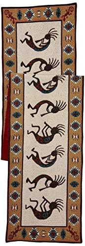 DII Kokopelli Southwestern-Inspired Tapestry Table Runner Multi