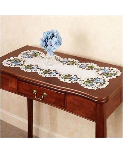 BLUE HYDRANGEA 36 TABLE RUNNER