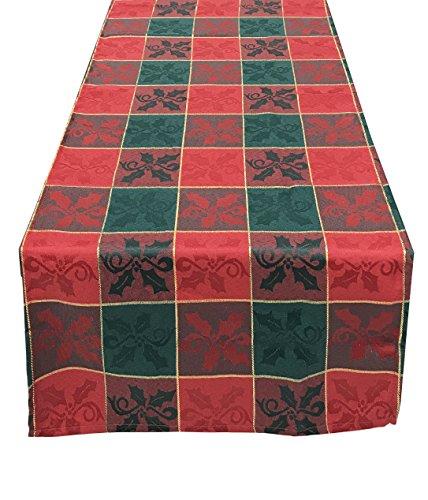 Fennco Styles Royal de Noel Collection Plaid Design Table Runner-16x36