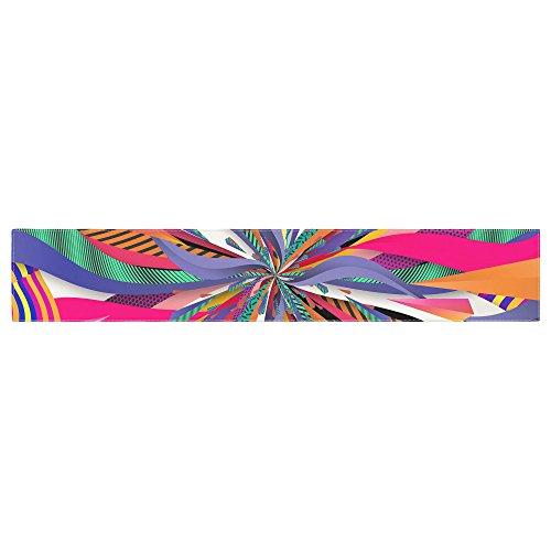 KESS InHouse Danny Ivan Pop Abstract Multicolor Table Runner 16 x 90