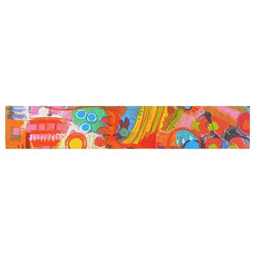 KESS InHouse Jeff Ferst Flower Power Abstract Multicolor Table Runner 16 x 90