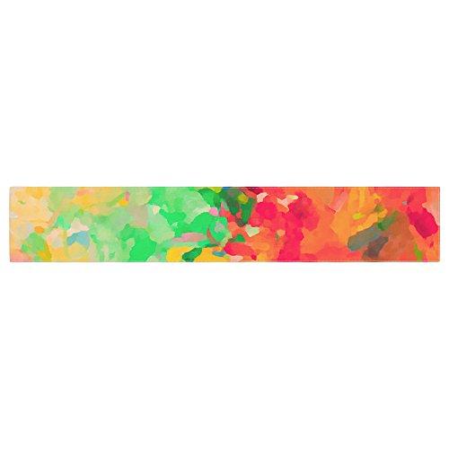 KESS InHouse Oriana Cordero La Rochelle-Abstract Red Multicolor Table Runner 16 x 90