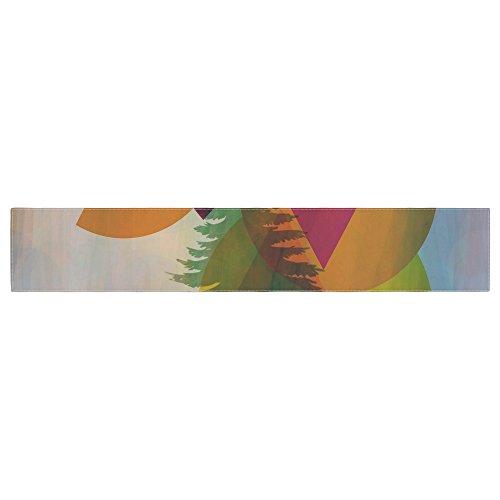 KESS InHouse alyZen Moonshadow HIDDEN FACE Multicolor Table Runner 16 x 90