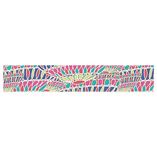 Kess InHouse MM4089ATR01 Miranda Mol Abundance Magenta Multicolor Table Runner