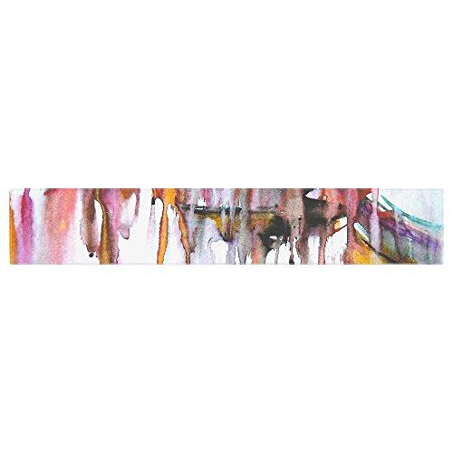 Kess InHouse MS6011ATR01 Malia Shields Cascade White Multicolor Table Runner