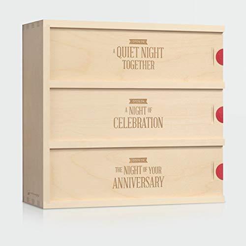 Wine Box Wedding Gift - Three Nights  Gift for the Couple  Anniversary Wine Box  WineforaWedding