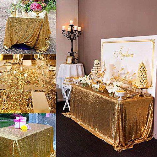 QueenDream sequin tablecloths 50X80Gold Sequin Tablecloth sequin tablecloth overlay Elegant Table Overlay