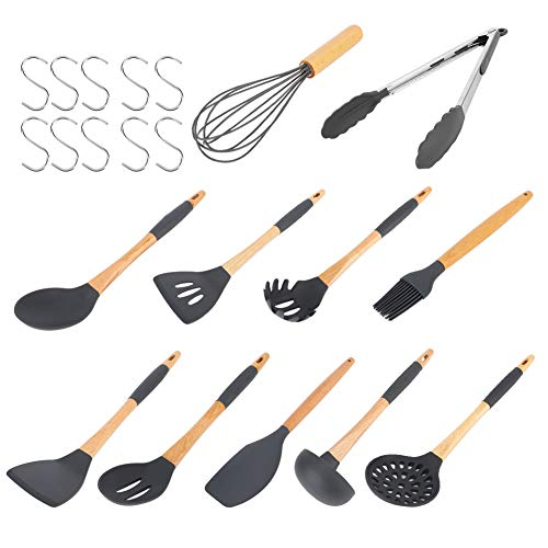 Kitchen Utensil Set Non-Stick Kitchenware Silicone Kitchen Set Cooking Utensils Set With S Hooks Kitchen Tools