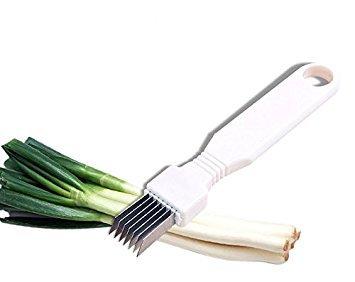 STONCEL Tool Slice Cutlery Kitchen Onion Vegetable Cutter Sharp Scallion Cutter Shred