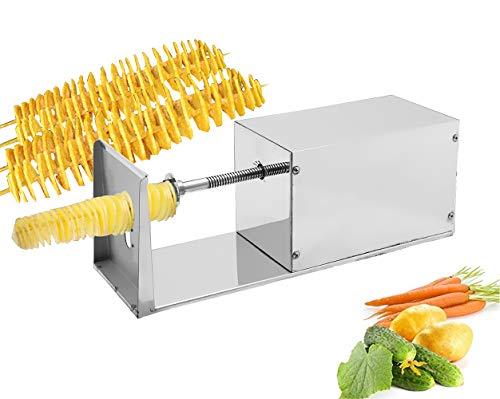 CGOLDENWALL Electric Potato Spiral Cutter Potato Slicer Potato Tornado Slicer Tornado Potato machine Spiral Twister Potato Chips Slicer Vegetable Cutter Cutting Machine