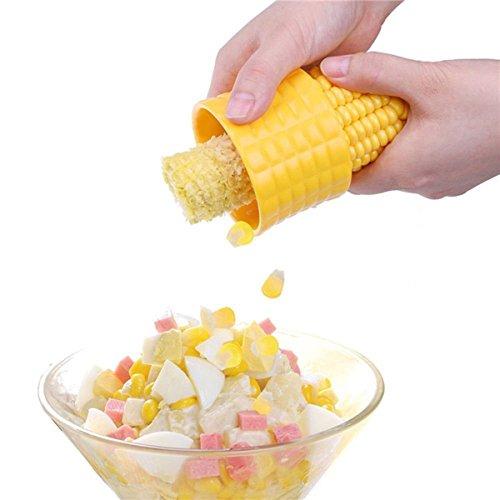 Corn Cob StripperEasy Use Kitchen Corn Cutter Peeler Remover Shucker ThresherYellow