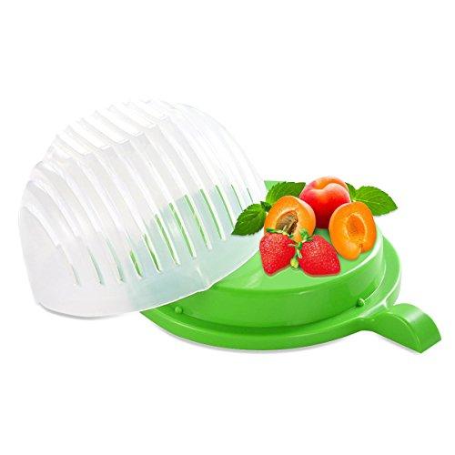 Rophie Durable Salad Cutter Salad Chopper Easy 60 Seconds Salad Maker Salad Cutter Bowl Vegetable Fruit Cutter Bowl FDA Certified Fast and Effective Salad Slicer