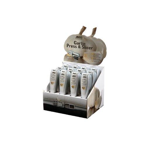 Focus Foodservice 8642 Garlic Press and Slicer Countertop Display Box 116 Slices 9 x 7-12 x 14-12 Cast Aluminum