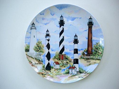 8 Carolina Lighthouses Melamine Salad Plates Set of Two