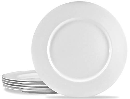 Calypso Basics by Reston Lloyd Melamine Salad Plate Set of 6 White