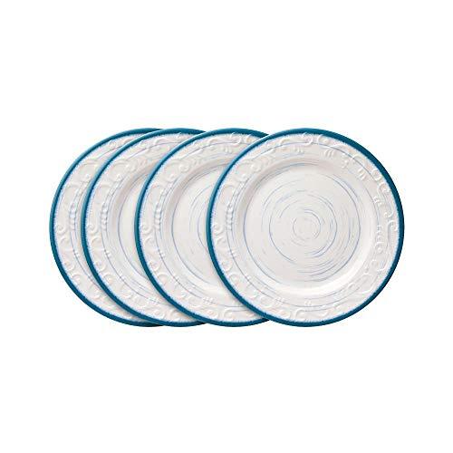 Pfaltzgraff Melamine Trellis Blue Salad Plates Set of 4