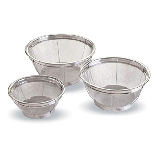 Pampered Chef Stainless Steel Mesh Colanders - Set of 3