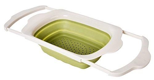 WELLAND Collapsible Kitchen Colander  Strainer - Over the Sink Kitchen Strainer 6-quart Capacity