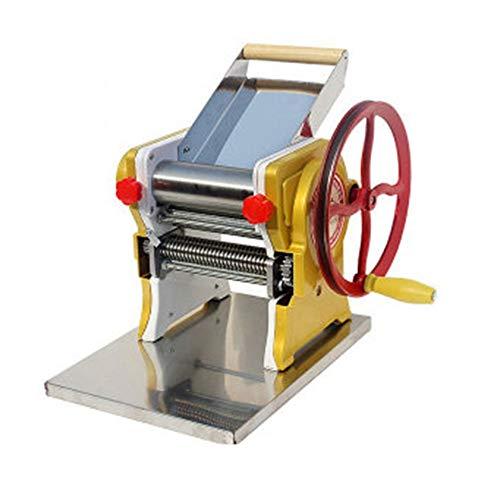 Rnwen Pasta Machine Multi-Functional Manual Noodle Pasta Dumpling Skin Maker Machine Press for Fresh Fettuccine Spaghetti Pasta Makers Accessories Color  Green Size  26X26X17CM