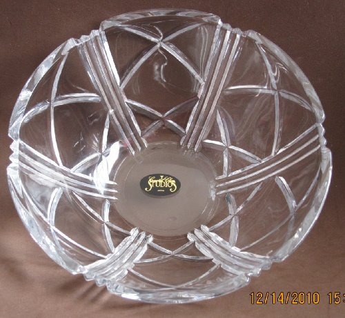 Crystal Clear Studios Crystal Bowl - Serving Dish 7 Diameter Top x 3 High Japan