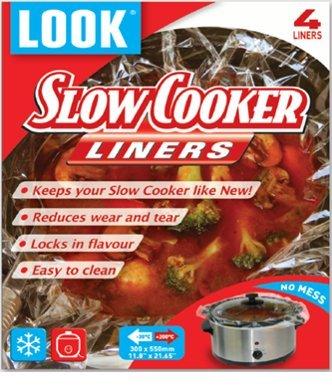 LOOK Slow Cooker Liner 4 Liners per Envelope 1 Envelope Total